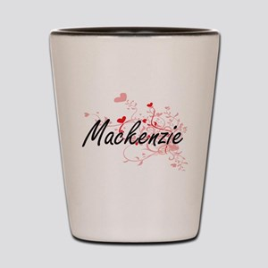 Mackenzie Artistic Name Design with Hea Shot Glass