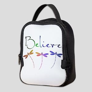 Believe...dragonflies Neoprene Lunch Bag