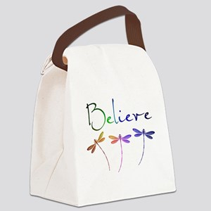 Believe...dragonflies Canvas Lunch Bag