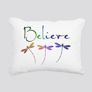 Believe...dragonflies Rectangular Canvas Pillow