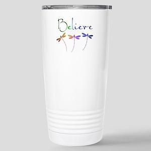 Believe...dragonflies Stainless Steel Travel Mug