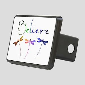 Believe...dragonflies Rectangular Hitch Cover