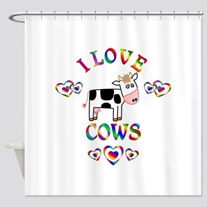 I Love Cows Shower Curtain