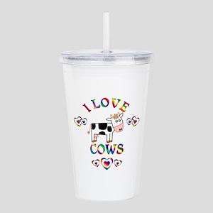 I Love Cows Acrylic Double-wall Tumbler