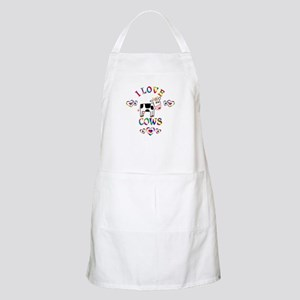I Love Cows Apron