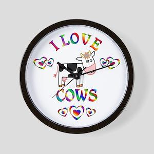 I Love Cows Wall Clock