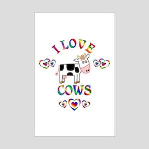 I Love Cows Mini Poster Print