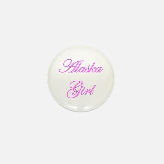 Alaska Girl Mini Button