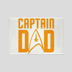 Captain Dad Rectangle Magnet