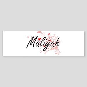 Maliyah Artistic Name Design with H Bumper Sticker