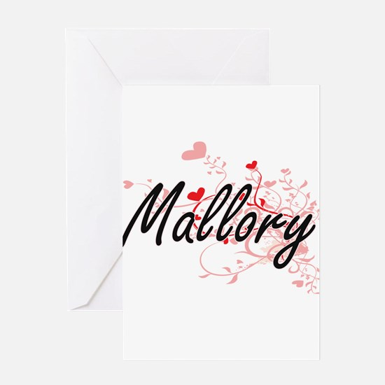 Mallory Artistic Name Design with H Greeting Cards