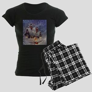Vintage Christmas Women's Dark Pajamas