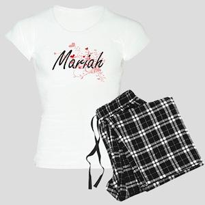 Mariah Artistic Name Design Women's Light Pajamas