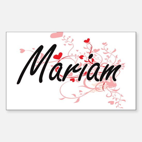 Mariam Artistic Name Design with Hearts Decal