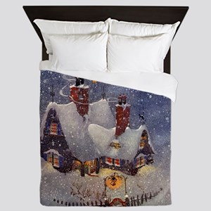 Vintage Christmas Queen Duvet