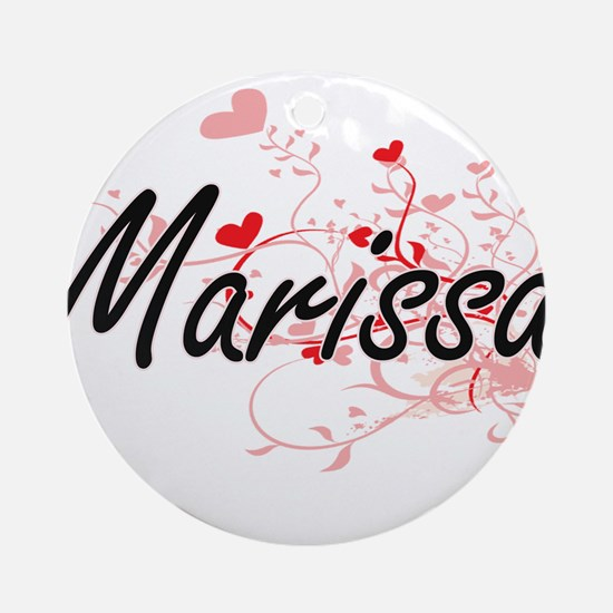 Marissa Artistic Name Design with Ornament (Round)