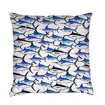 School of Marlin and Swordfish 1a Everyday Pillow