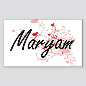Maryam Artistic Name Design with Hearts Sticker