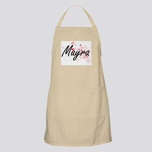 Mayra Artistic Name Design with Hearts Apron