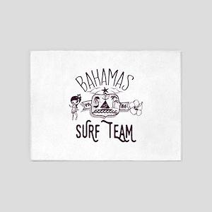 Bahamas Surf Team 5'x7'Area Rug