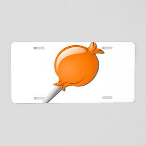 Lollipop Orange Aluminum License Plate
