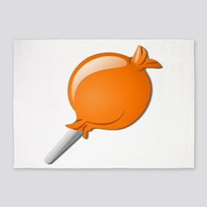 Lollipop Orange 5'x7'Area Rug