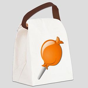 Lollipop Orange Canvas Lunch Bag