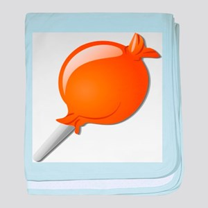 Lollipop Orange baby blanket