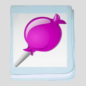 Lollipop Purple baby blanket