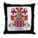 Chatillon Family Crest Throw Pillow