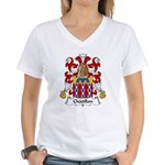 Chatillon Family Crest Women's V-Neck T-Shirt