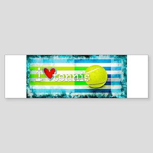 i love vintage tennis Bumper Sticker