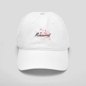 Monserrat Artistic Name Design with Hearts Cap