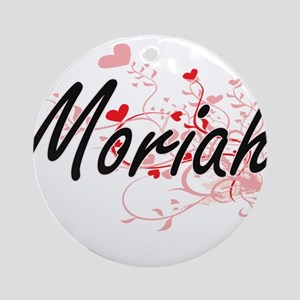 Moriah Artistic Name Design with Ornament (Round)