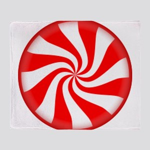 Peppermint Candy Throw Blanket