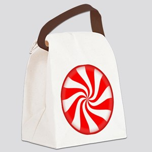 Peppermint Candy Canvas Lunch Bag
