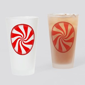 Peppermint Candy Drinking Glass