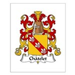 Chatelet Family Crest Small Poster