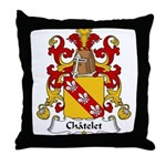 Chatelet Family Crest Throw Pillow