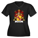 Chatelet Family Crest Women's Plus Size V-Neck Dar