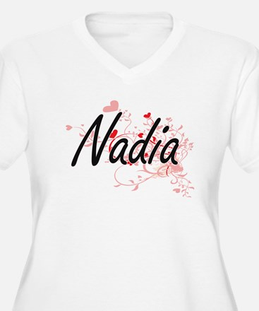 Nadia Artistic Name Design with Plus Size T-Shirt