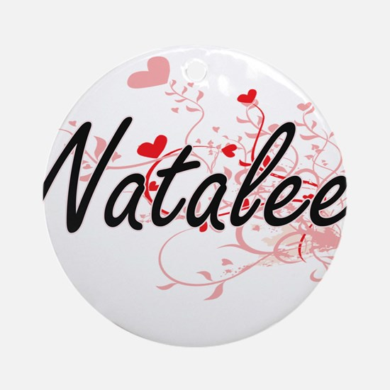 Natalee Artistic Name Design with Ornament (Round)