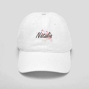 Natalia Artistic Name Design with Hearts Cap