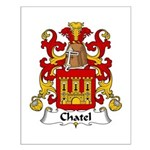 Chatel Family Crest Small Poster