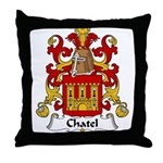Chatel Family Crest Throw Pillow