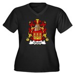 Chatel Family Crest Women's Plus Size V-Neck Dark