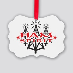 HAM SPIRIT LOGO Picture Ornament