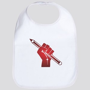 Pencil in a Raised Fist Bib