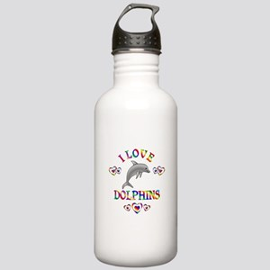 I Love Dolphins Stainless Water Bottle 1.0L