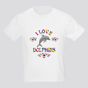I Love Dolphins Kids Light T-Shirt
